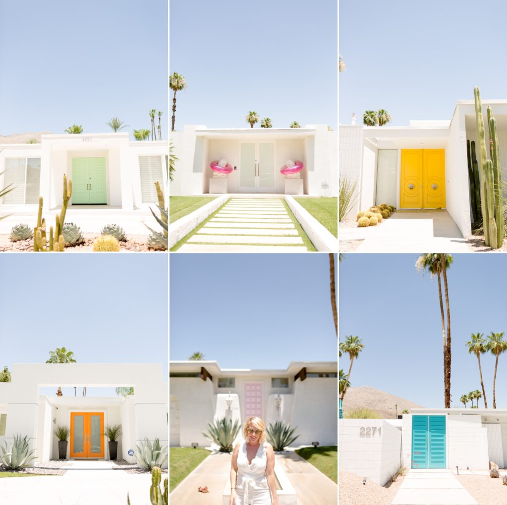 #thatpinkdoor and other doors on the door tour at Indian canyon neighborhood in Palm Springs
