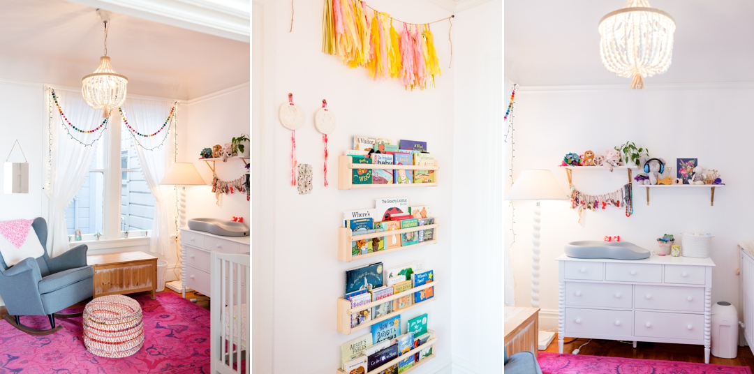 Colorful fun baby girl nursery