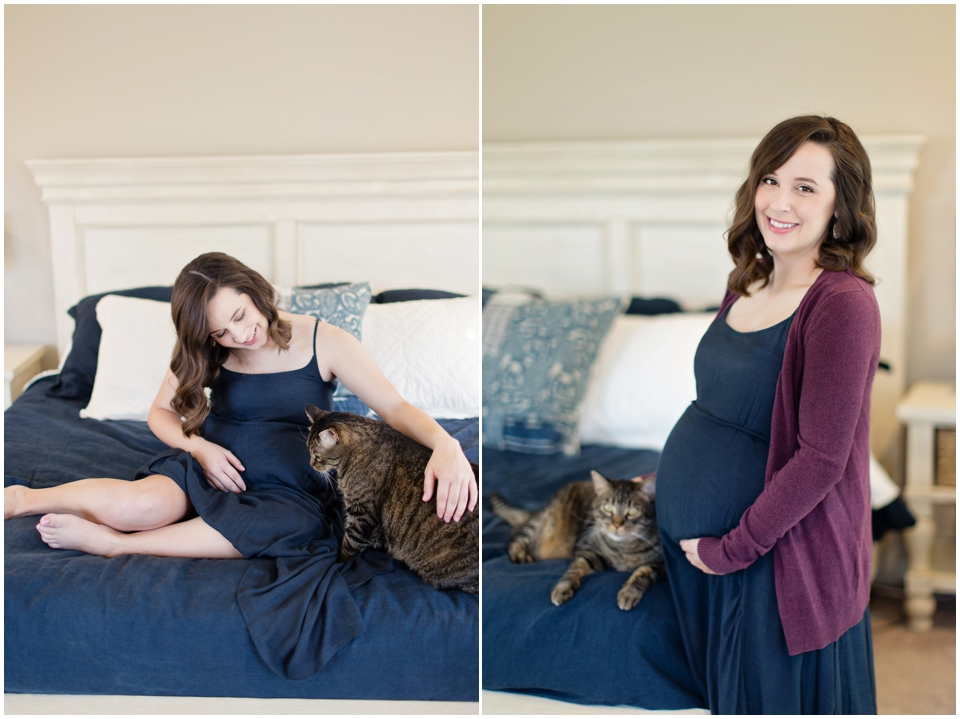 Maternity portraits of woman with gestational diabetes