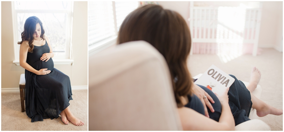 Pregnant lady with gestational diabetes waiting for baby