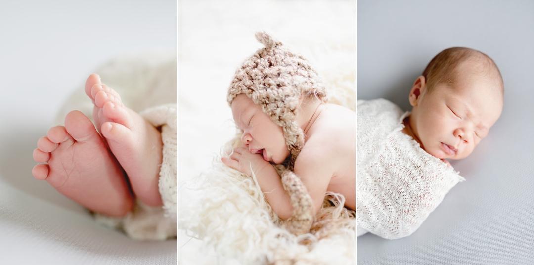 Posed Studio Newborn Portraits in Oakland CA