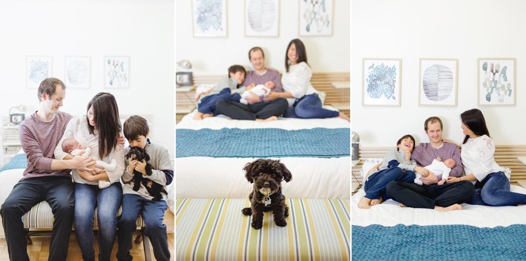 Tiny Cute Puppy in Family Photos